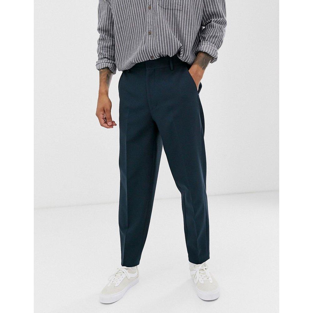 Pantalon bouffant habillé - Bleu marine - ASOS DESIGN - Modalova