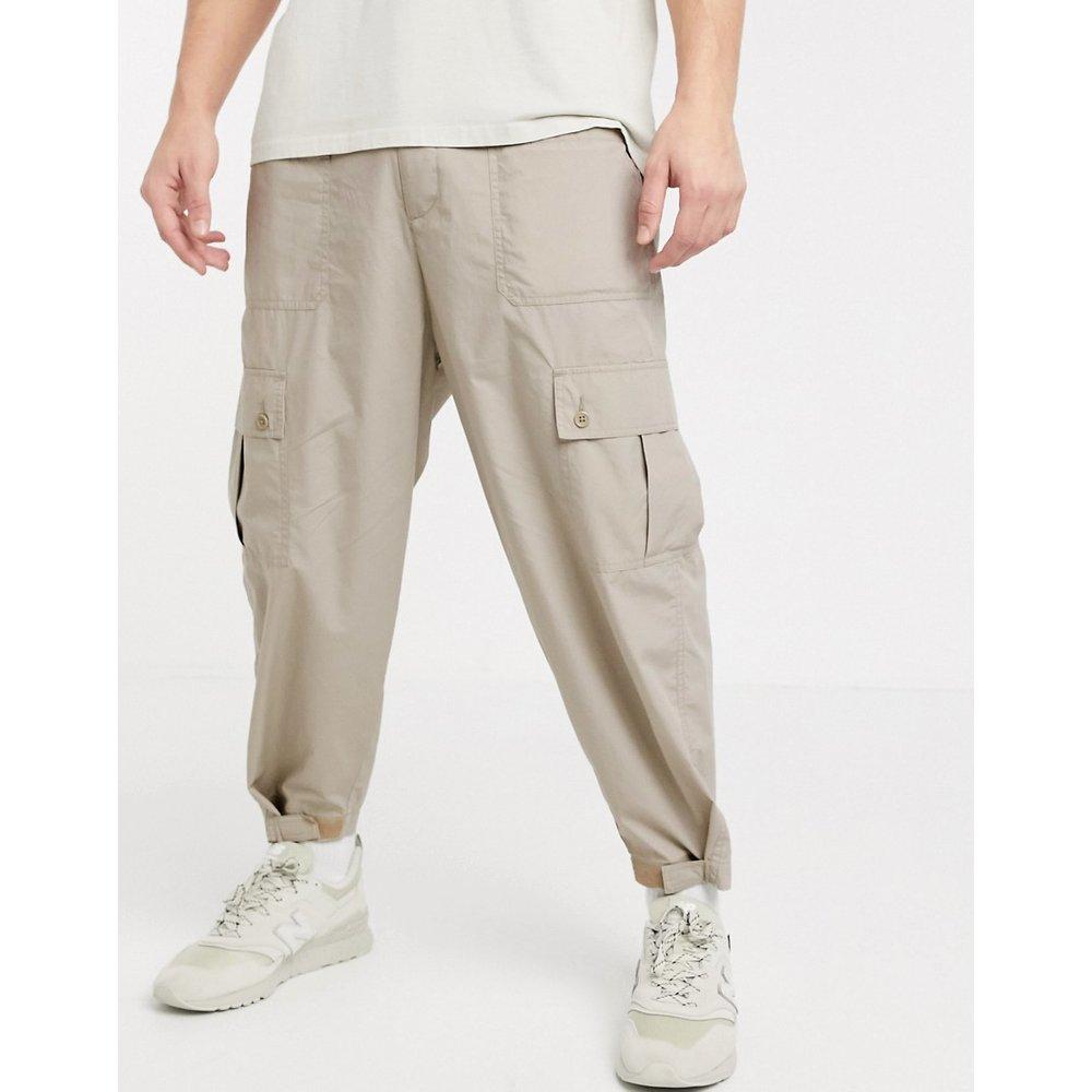 Pantalon cargo large - Écru - ASOS DESIGN - Modalova