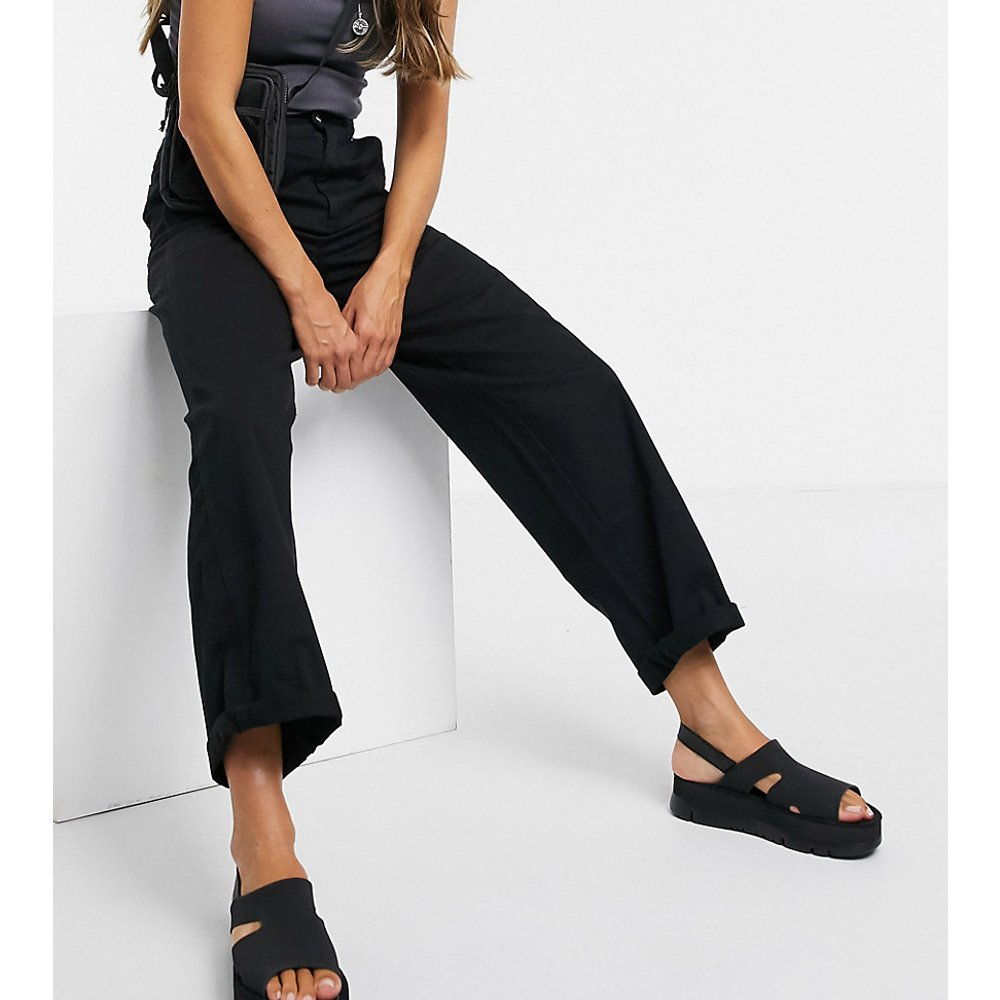 Pantalon chino large - Bleu marine foncé - ASOS DESIGN - Modalova