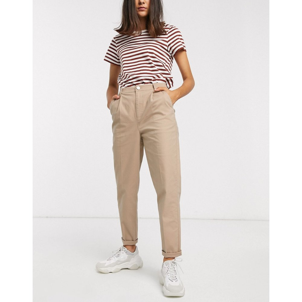 Pantalon chino - Taupe - ASOS DESIGN - Modalova
