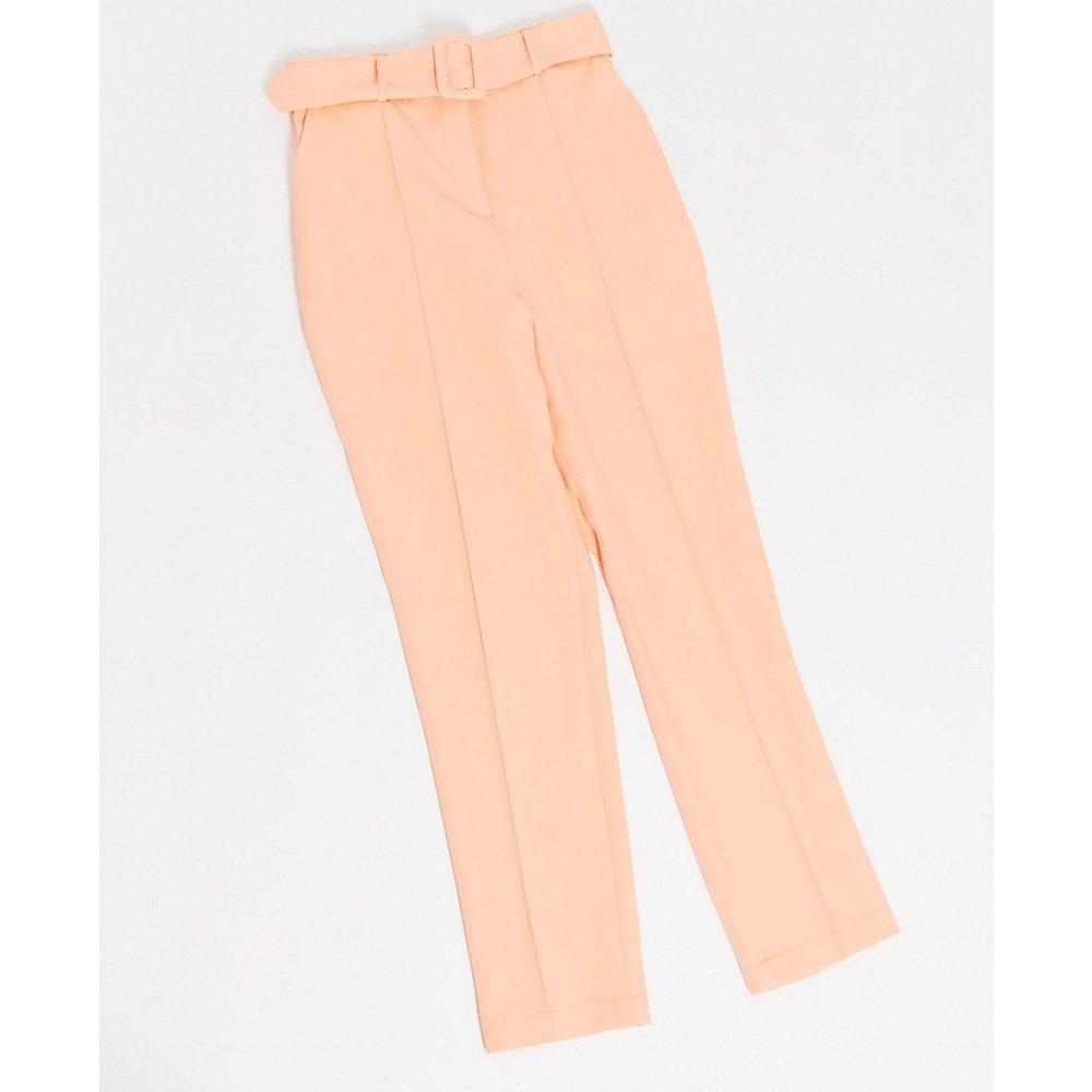 Pantalon cigarette taille haute à ceinture - Couleur pastel vive - ASOS DESIGN - Modalova