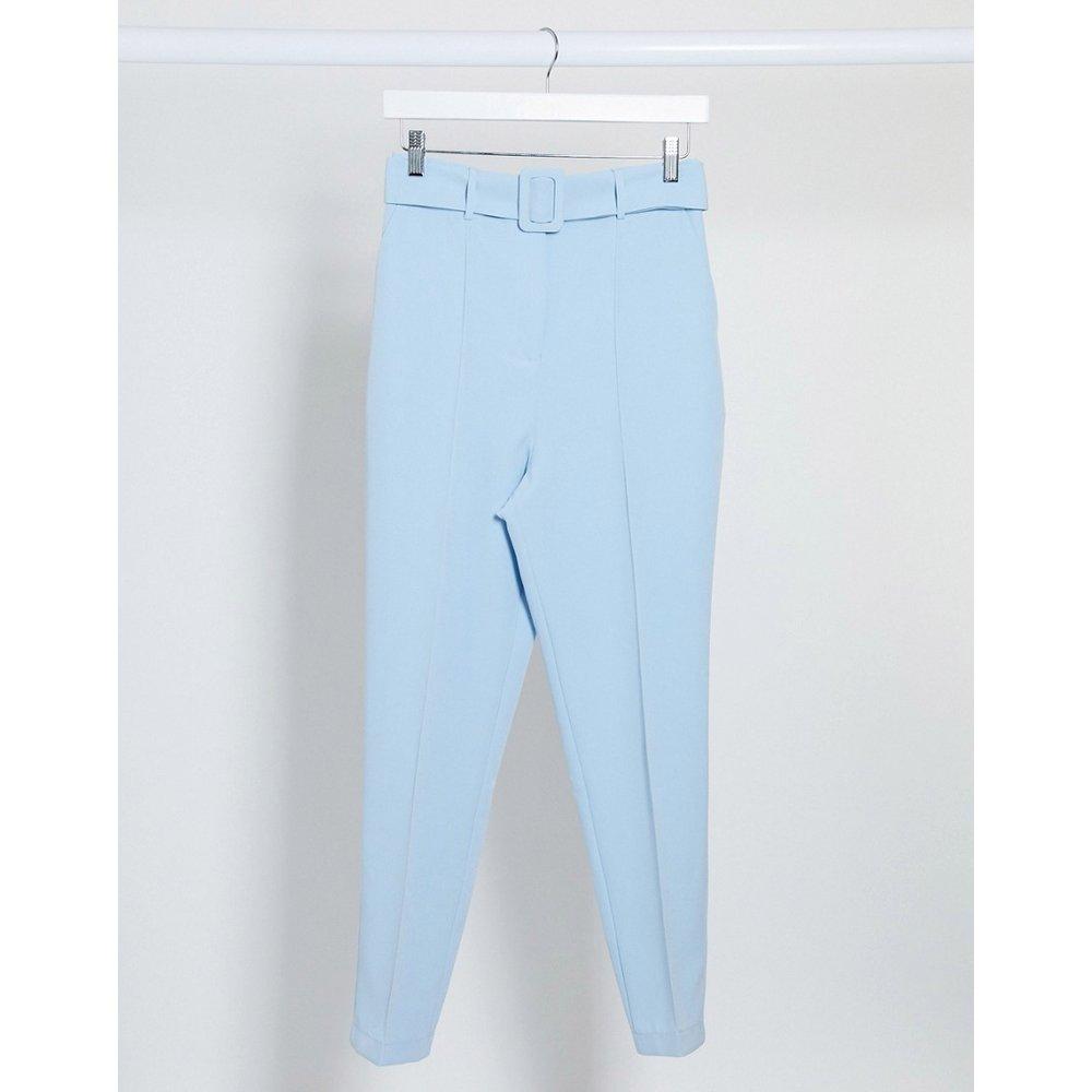Pantalon cigarette taille haute avec ceinture - pastel - ASOS DESIGN - Modalova