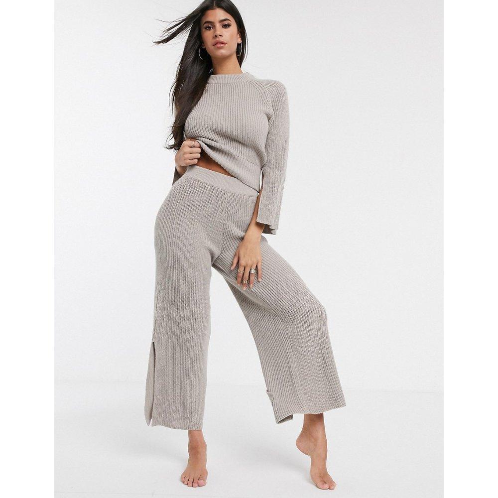 Pantalon confort large en maille de qualité supérieure avec fentes - ASOS DESIGN - Modalova