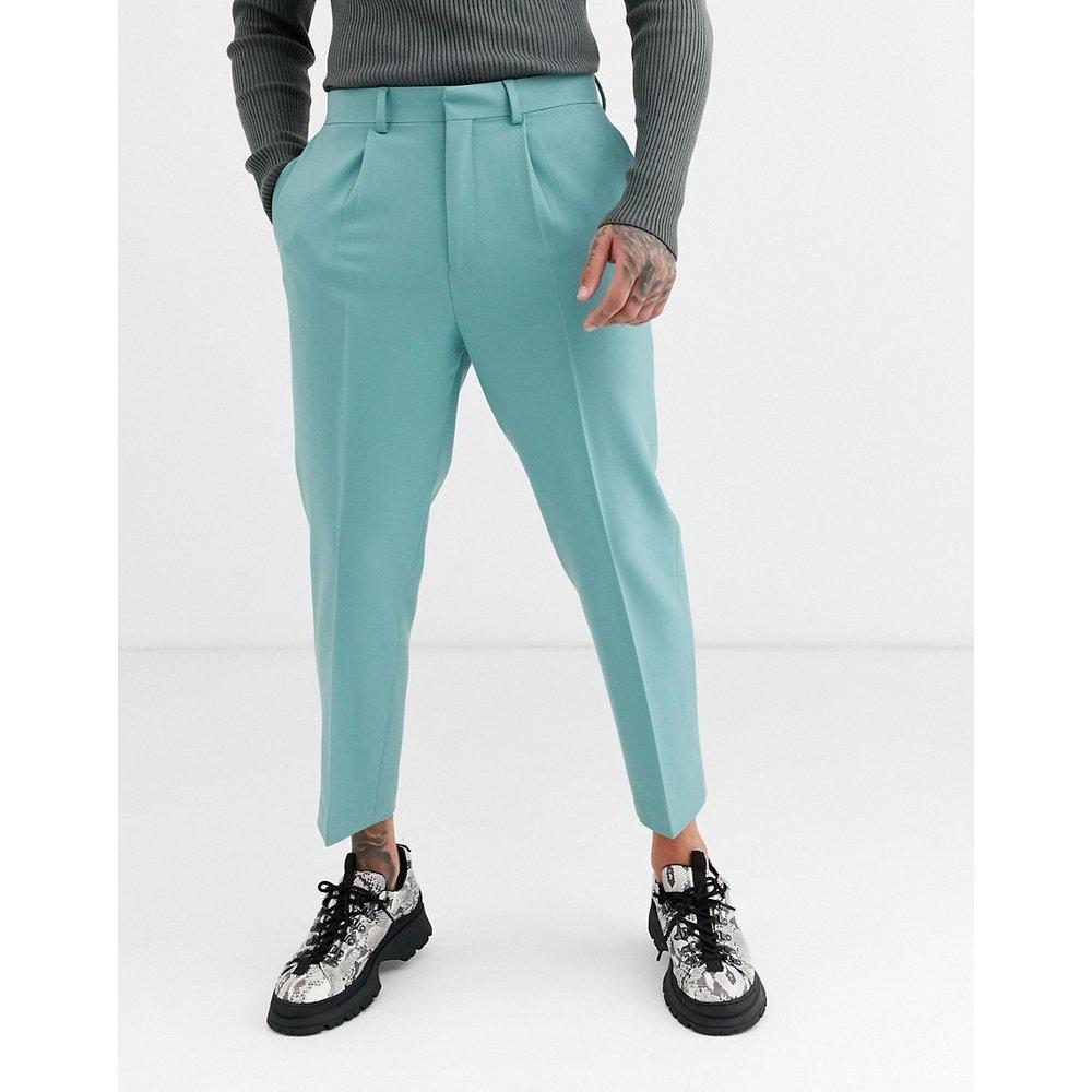 Pantalon court fuselé habillé à pinces - Turquoise - ASOS DESIGN - Modalova