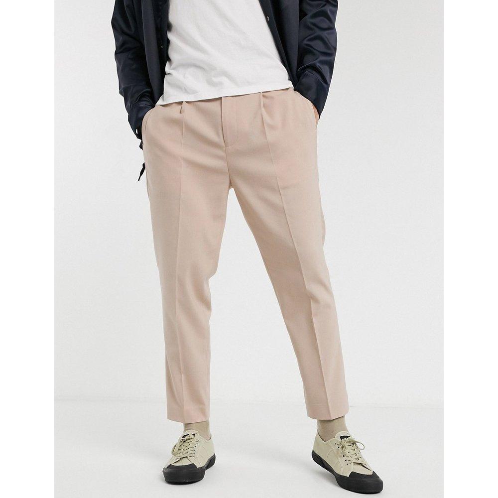 Pantalon court habillé ajusté - ASOS DESIGN - Modalova