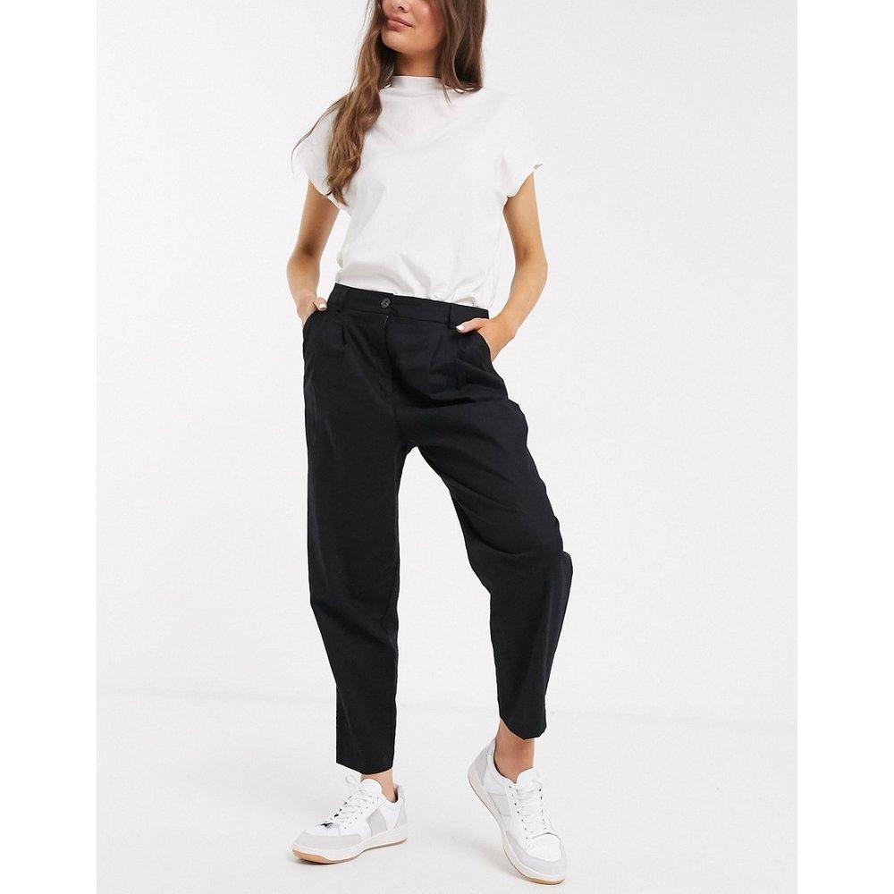 Pantalon dad en lin - ASOS DESIGN - Modalova