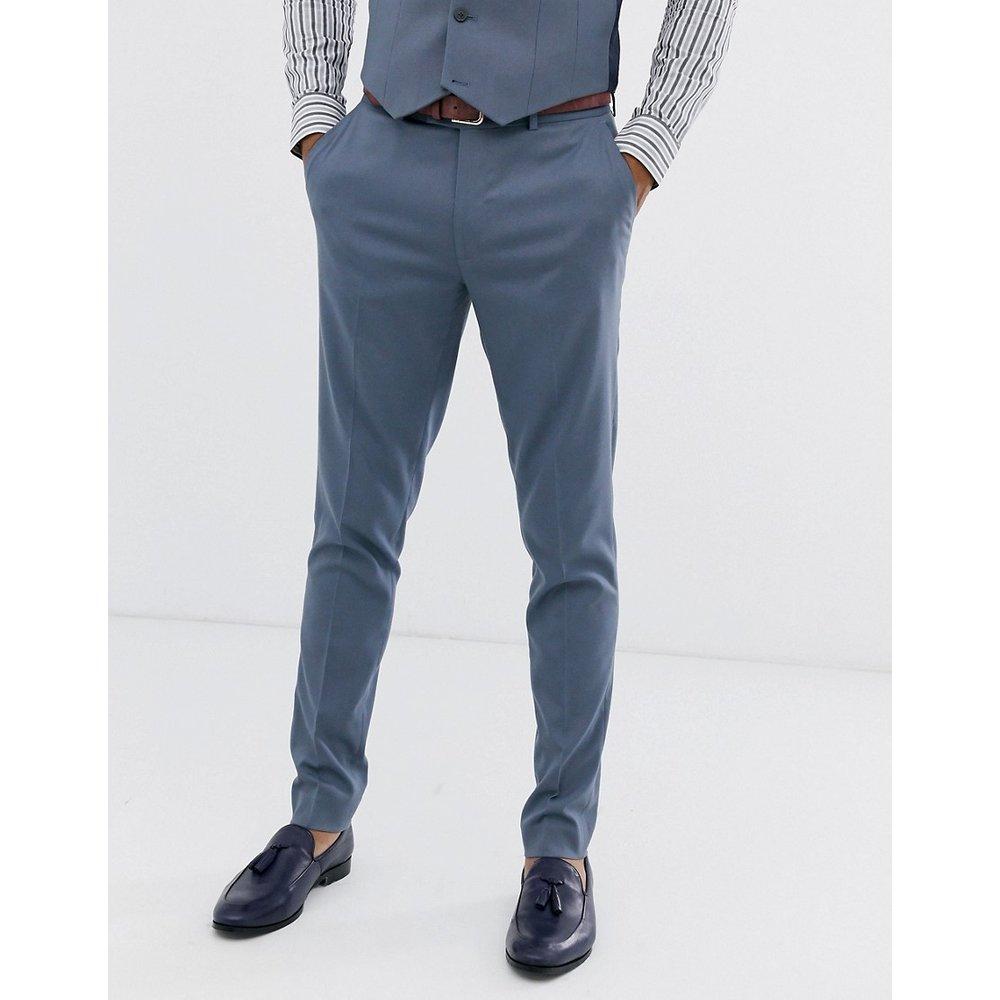 Pantalon de costume ajusté - ardoise - ASOS DESIGN - Modalova