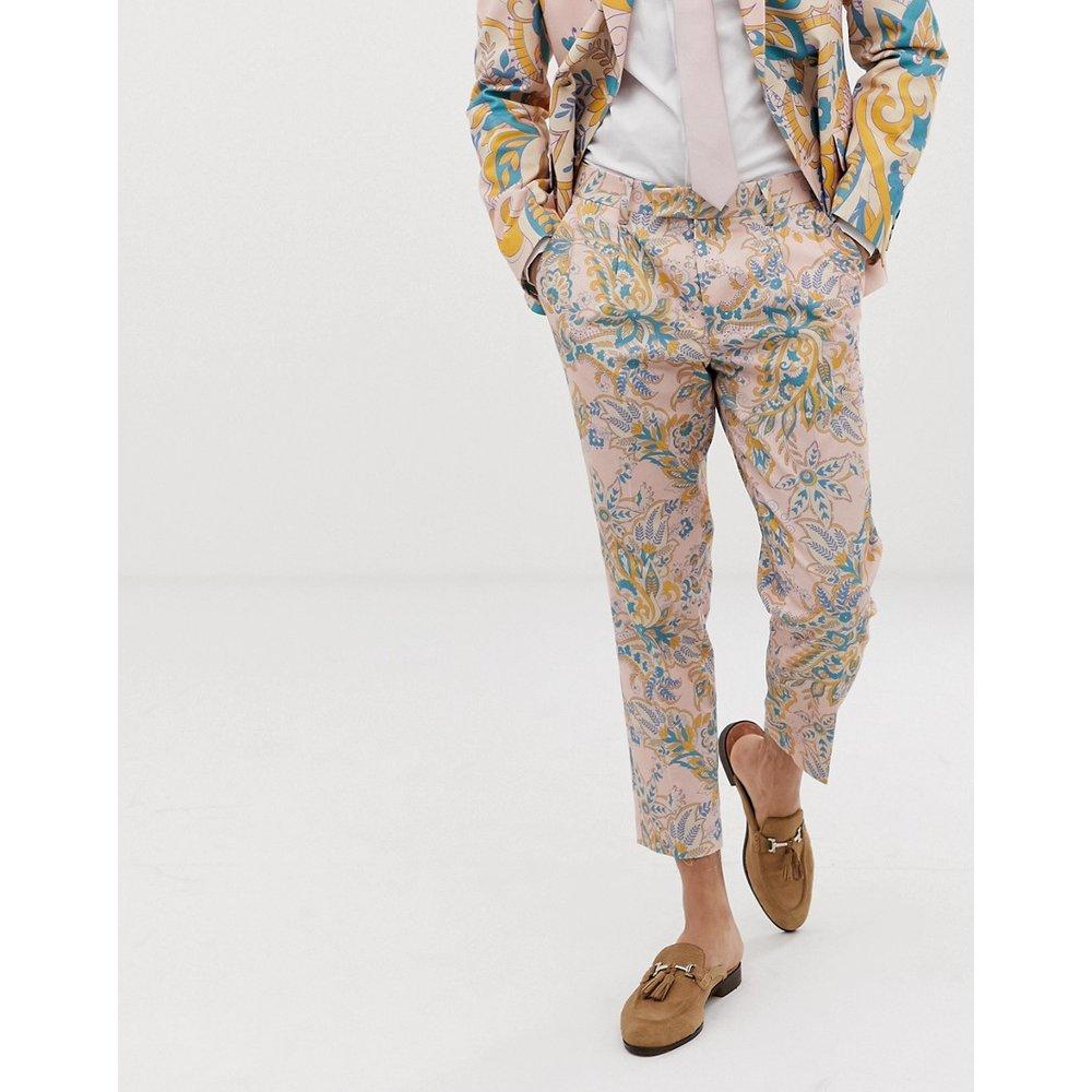 Pantalon de costume coupe cigarette à imprimé cachemire pour mariage - ASOS DESIGN - Modalova
