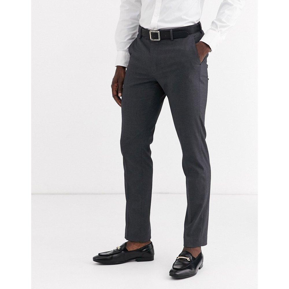 Pantalon de costume slim - Anthracite - ASOS DESIGN - Modalova