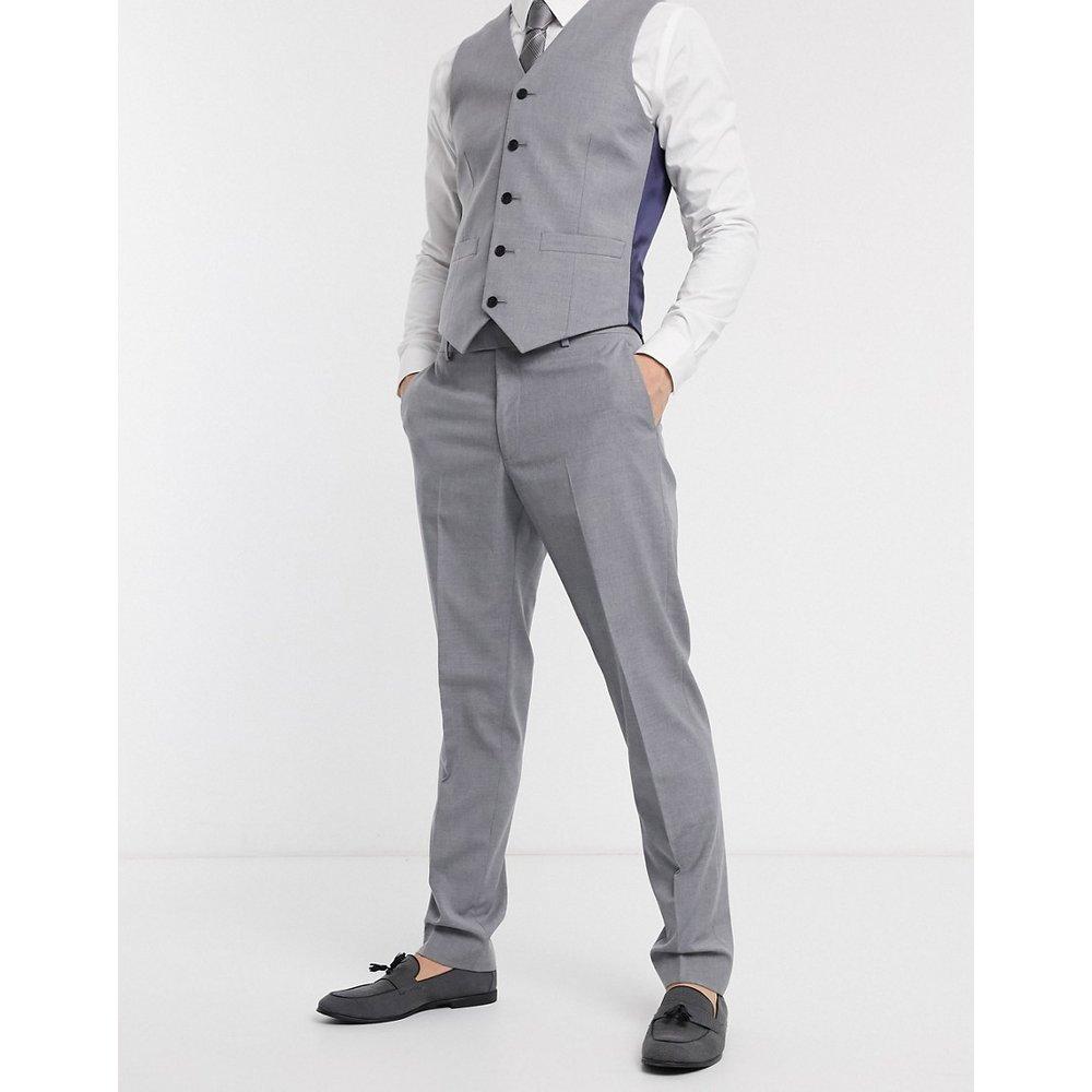 Pantalon de costume slim - Gris moyen - ASOS DESIGN - Modalova