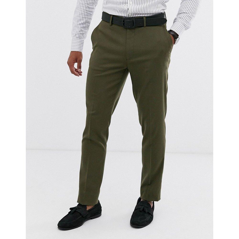 Pantalon de costume slim - olive - ASOS DESIGN - Modalova