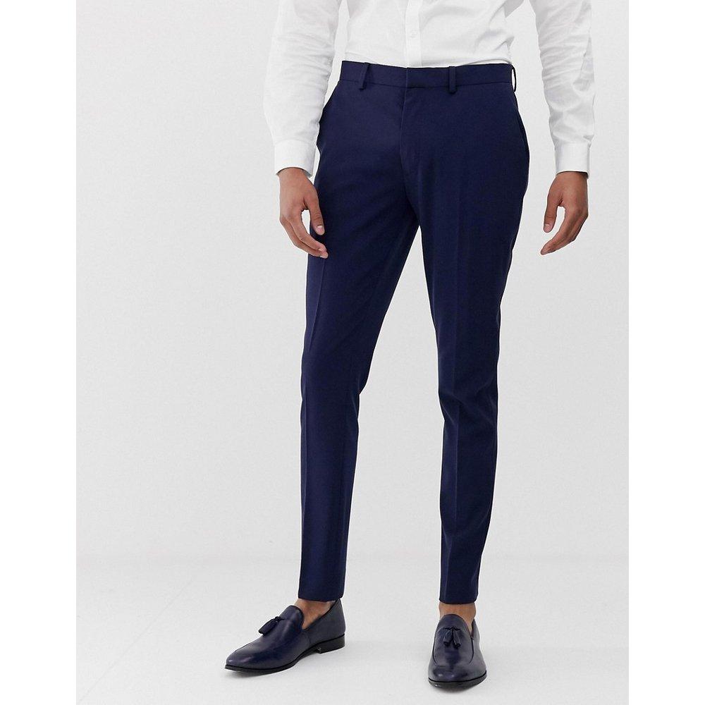 Pantalon de costume super skinny - Bleu marine - ASOS DESIGN - Modalova