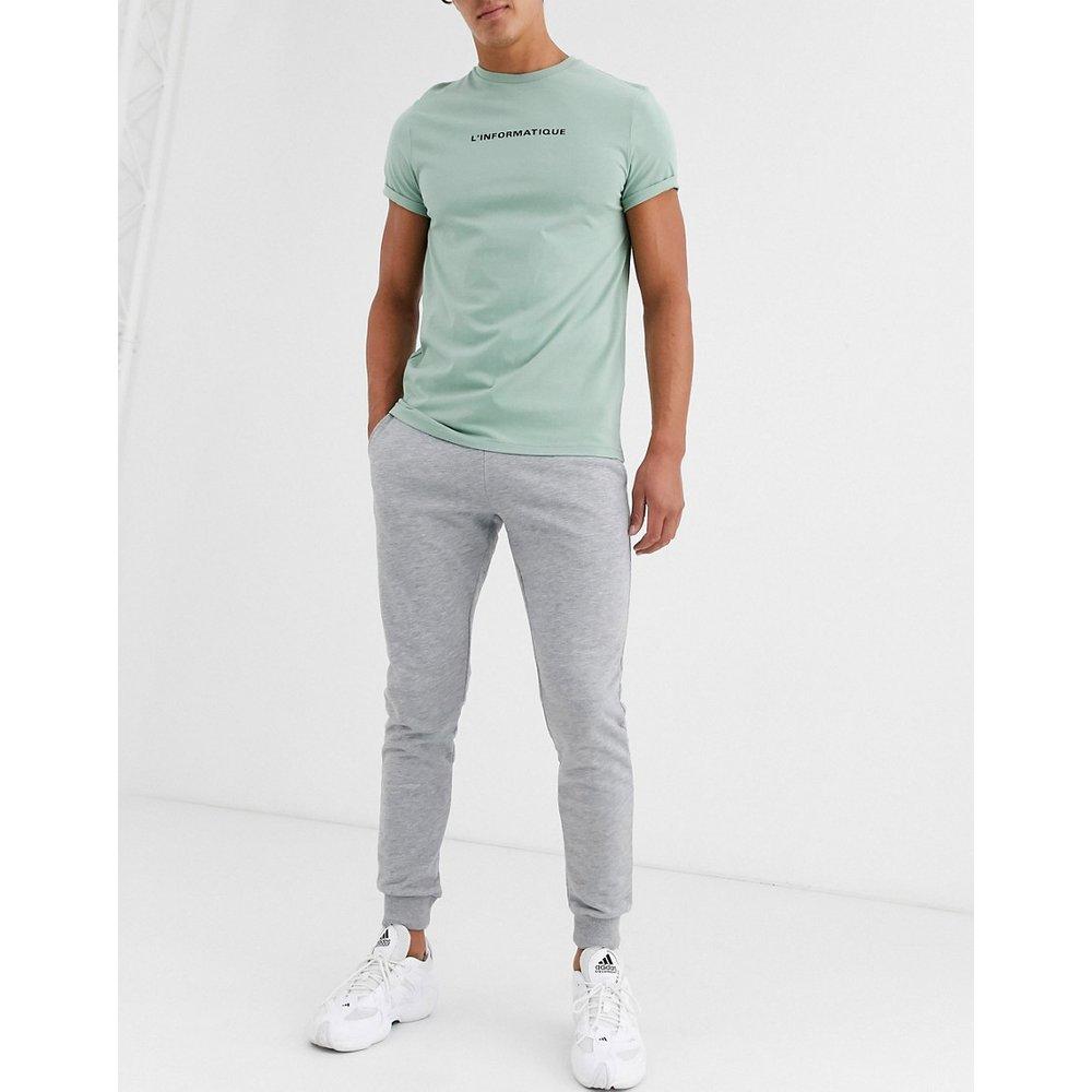 Pantalon de jogging ajusté - chiné - ASOS DESIGN - Modalova