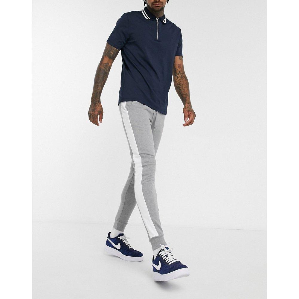 Pantalon de jogging skinny avec bande sur le côté - chiné - ASOS DESIGN - Modalova