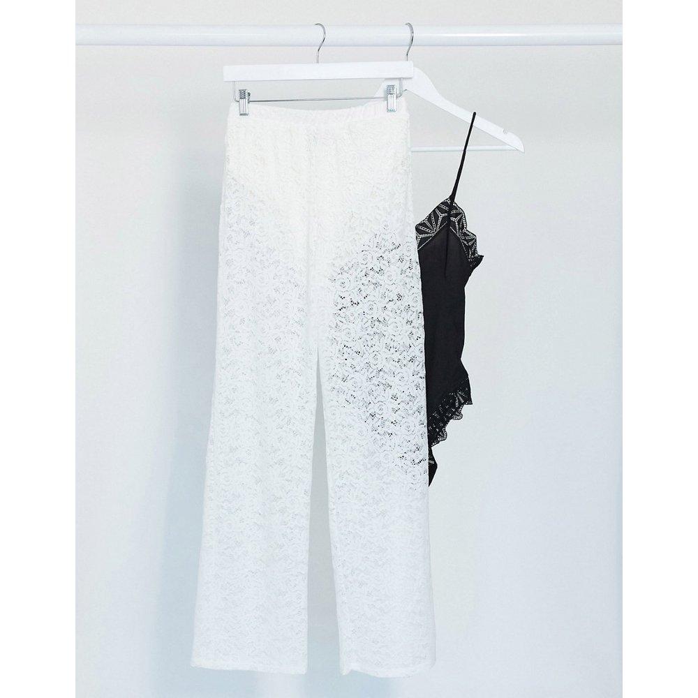 Pantalon de tailleur en dentelle et jersey - ASOS DESIGN - Modalova