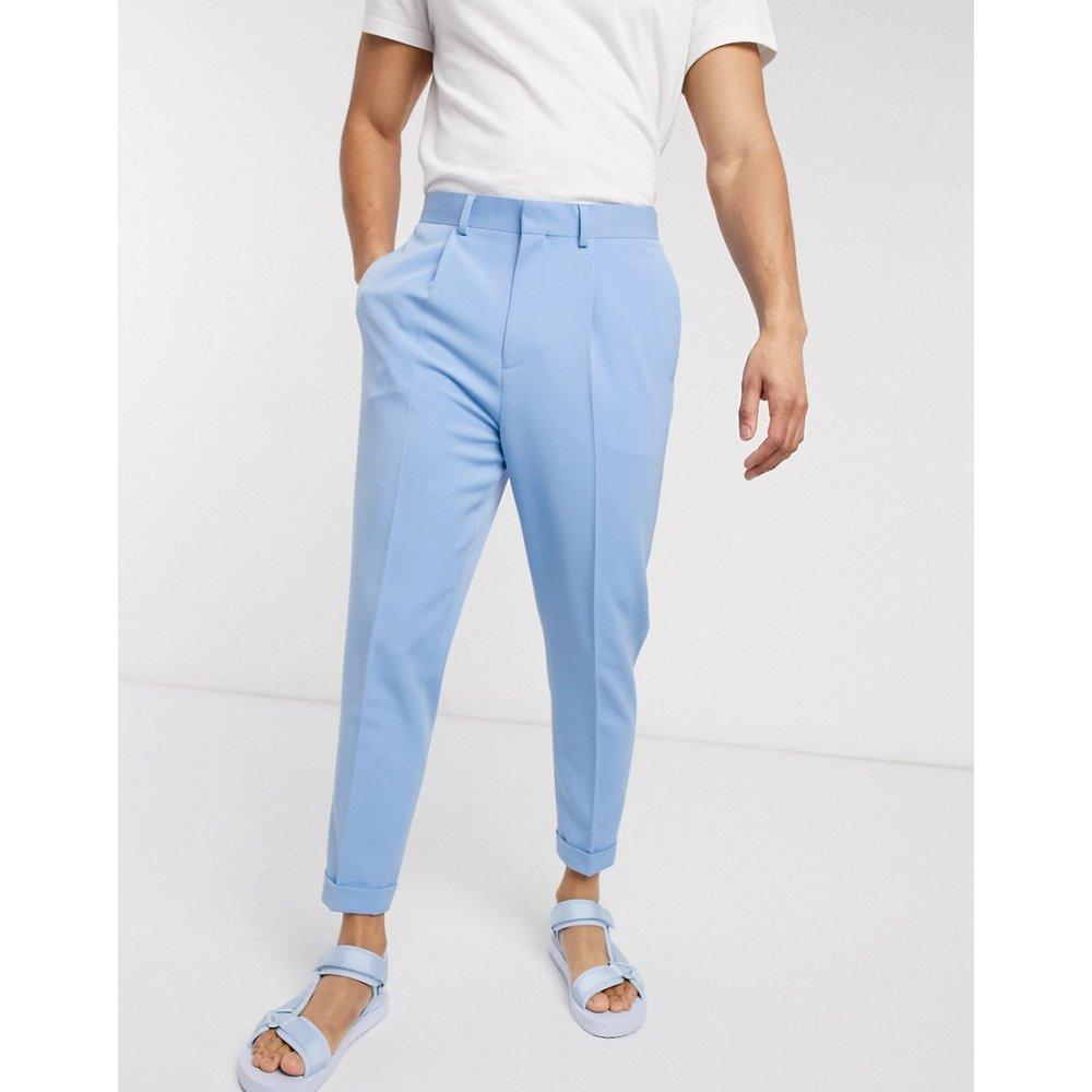 Pantalon fuselé habillé à pinces avec revers - ASOS DESIGN - Modalova