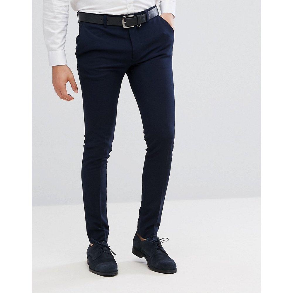 Pantalon habillé super ajusté - Bleu marine - ASOS DESIGN - Modalova
