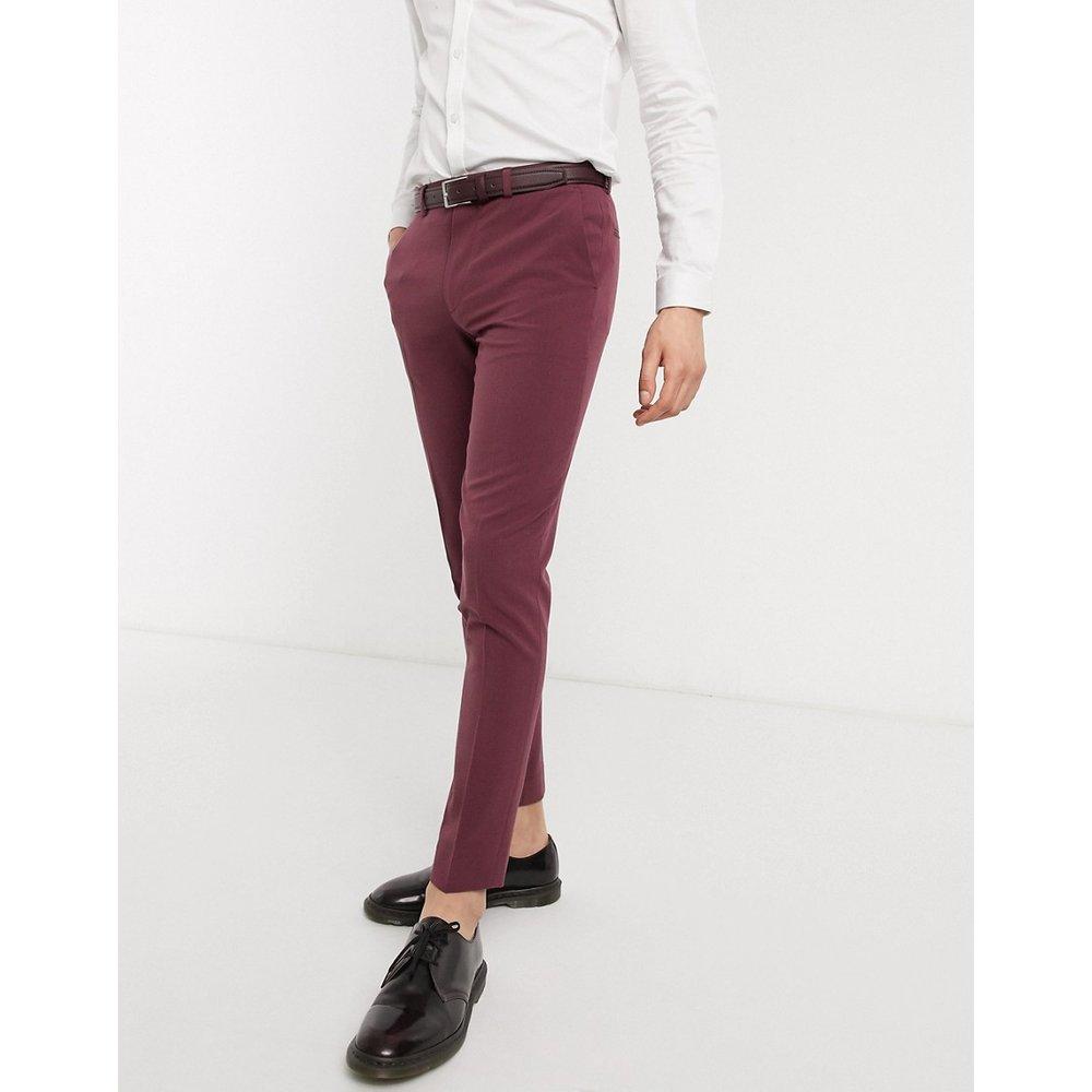 Pantalon habillé très ajusté - Vin - ASOS DESIGN - Modalova