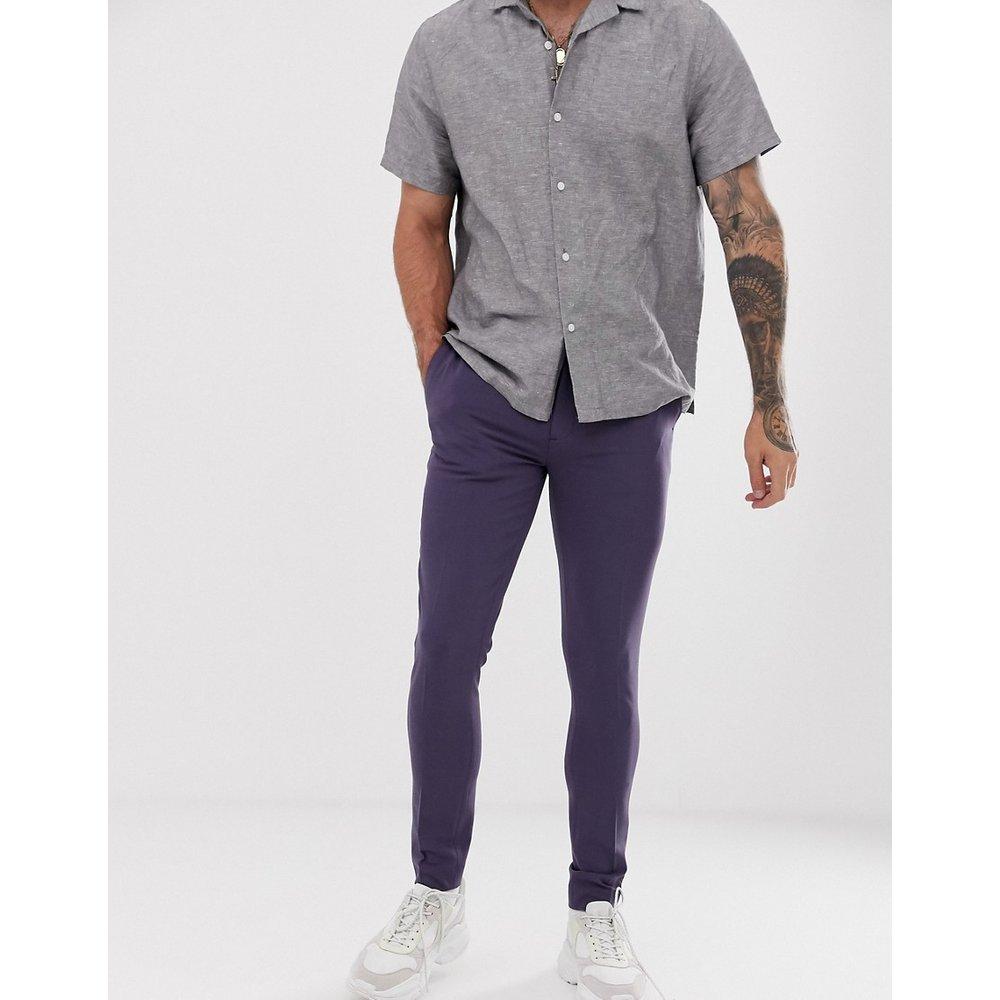 Pantalon habillé ultra ajusté - Bleu ardoise - ASOS DESIGN - Modalova