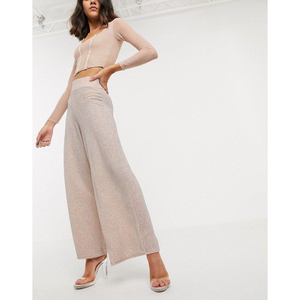 Pantalon large à paillettes avec ceinture large - ASOS DESIGN - Modalova