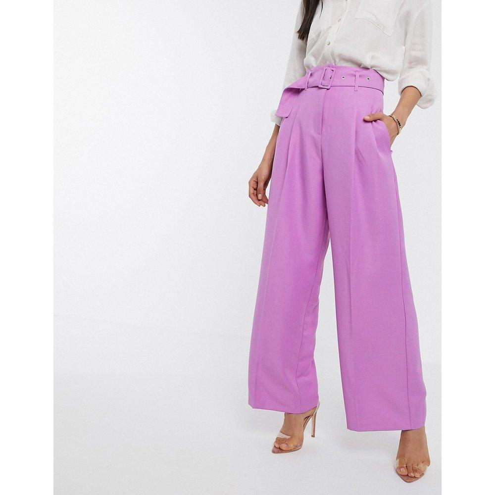 Pantalon large avec ceinture - ASOS DESIGN - Modalova
