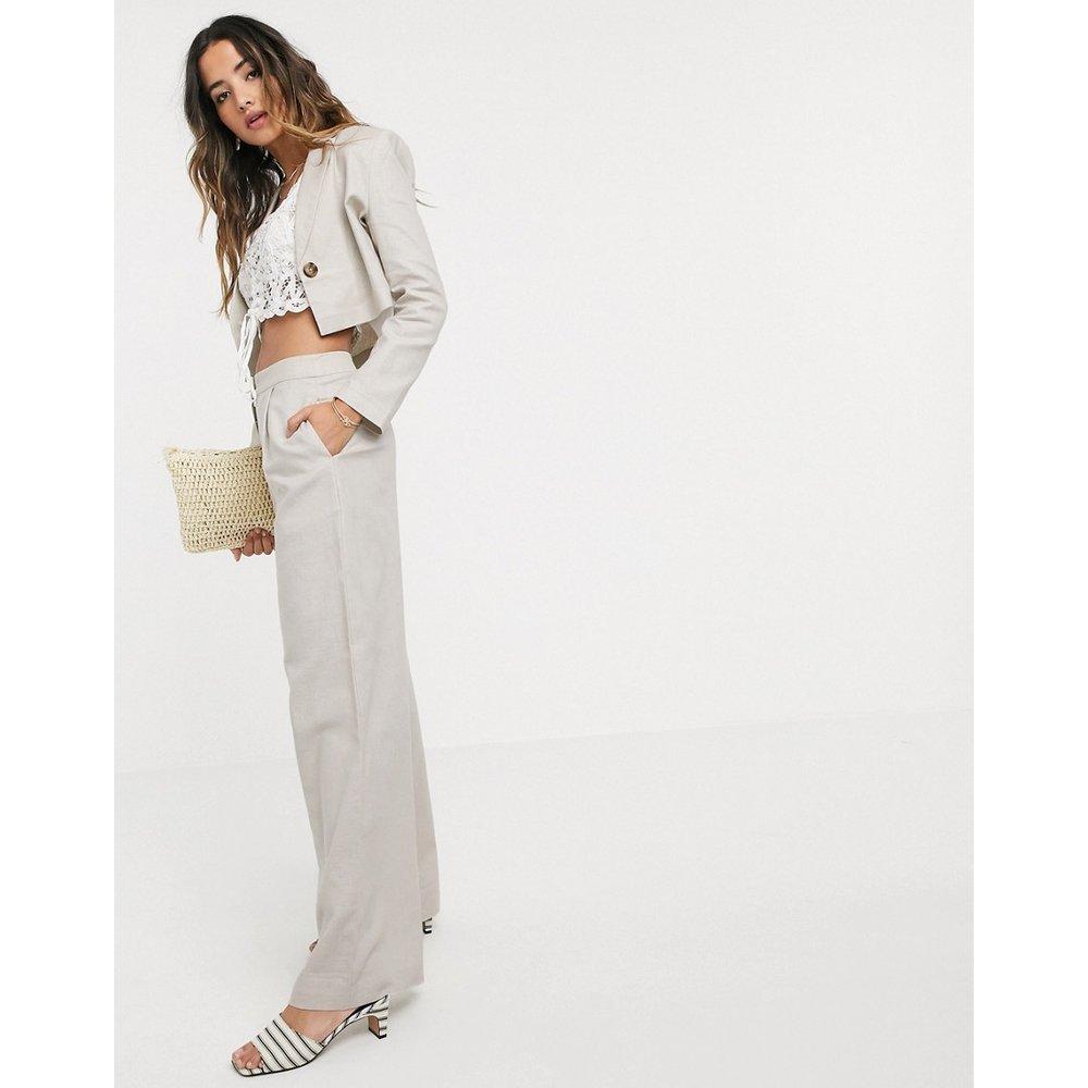 Pantalon large en lin - ASOS DESIGN - Modalova