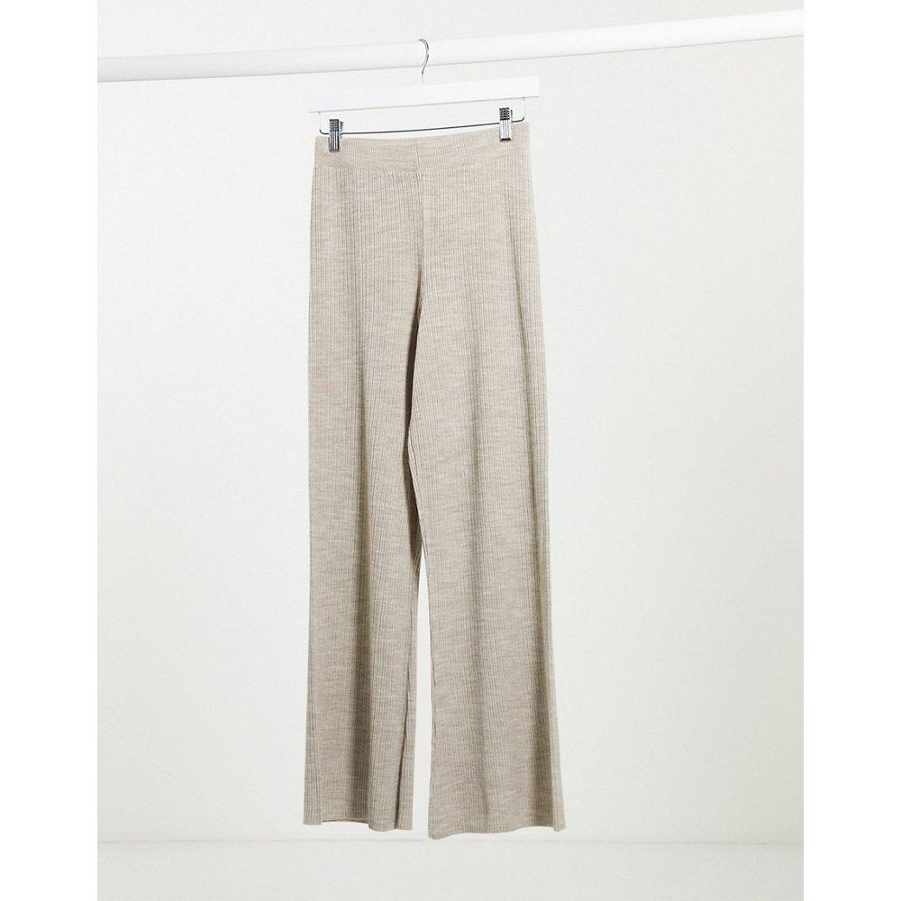 Pantalon large en maille - Avoine (ensemble) - ASOS DESIGN - Modalova