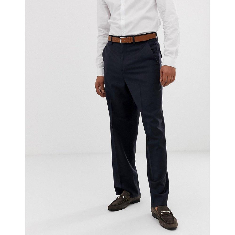 Pantalon large habillé 100% laine - Bleu marine - ASOS DESIGN - Modalova