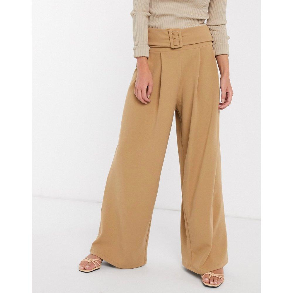 Pantalon plissé large structuré en sergé avec ceinture - ASOS DESIGN - Modalova