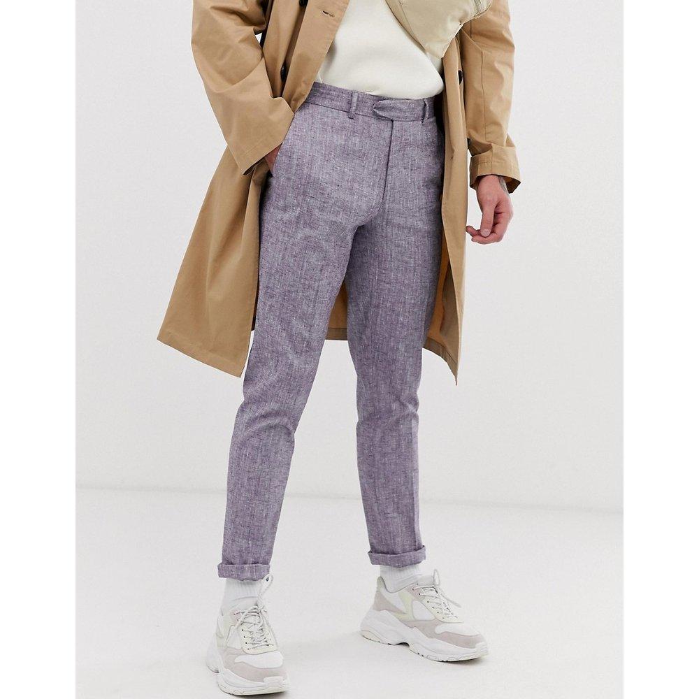 Pantalon skinny en lin - ASOS DESIGN - Modalova