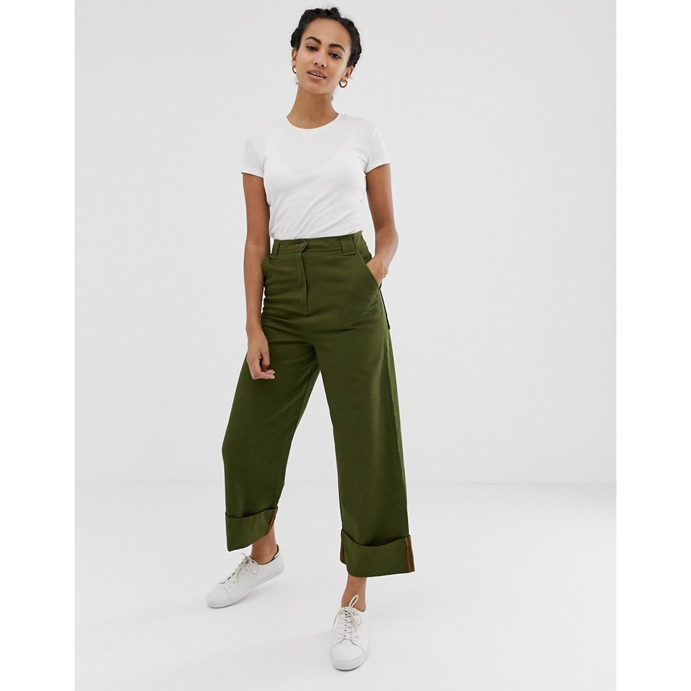 Pantalon style militaire coupe droite - ASOS DESIGN - Modalova