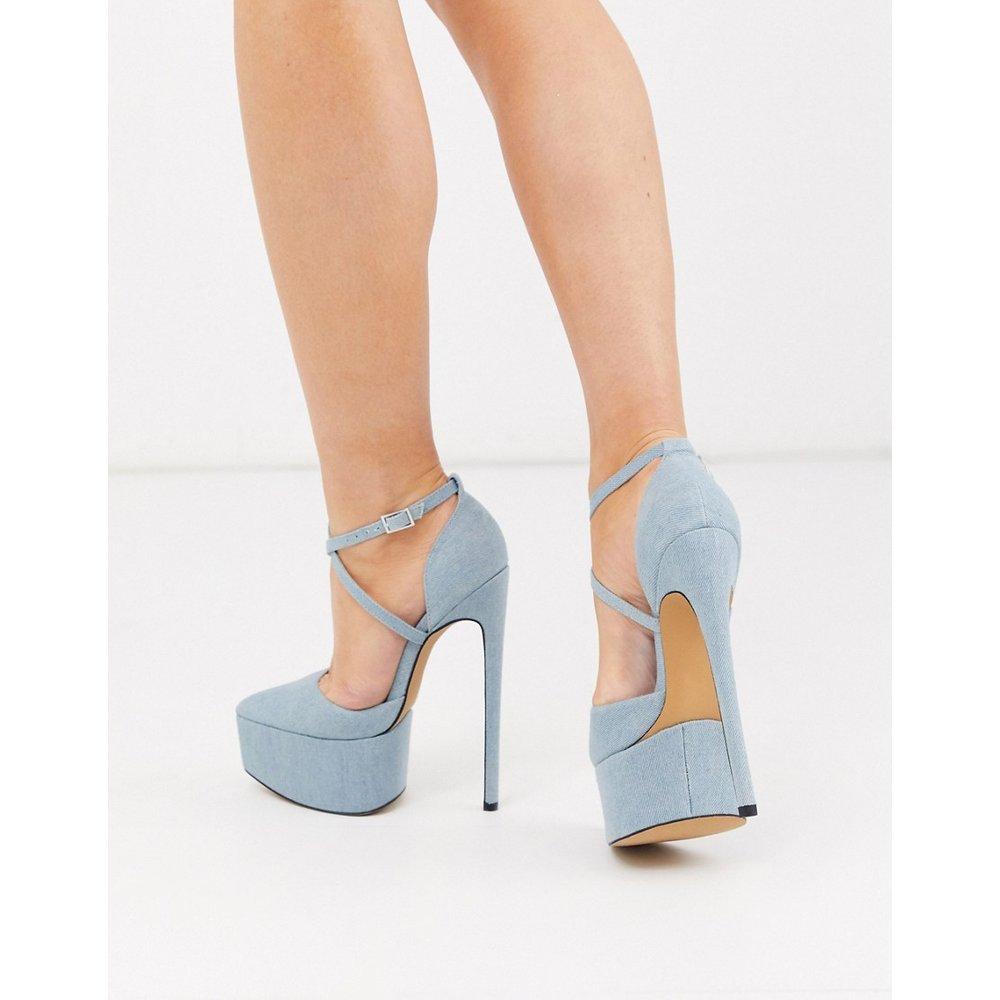 Perplex - Chaussures pointues plateforme à talon aiguille - Jean - ASOS DESIGN - Modalova