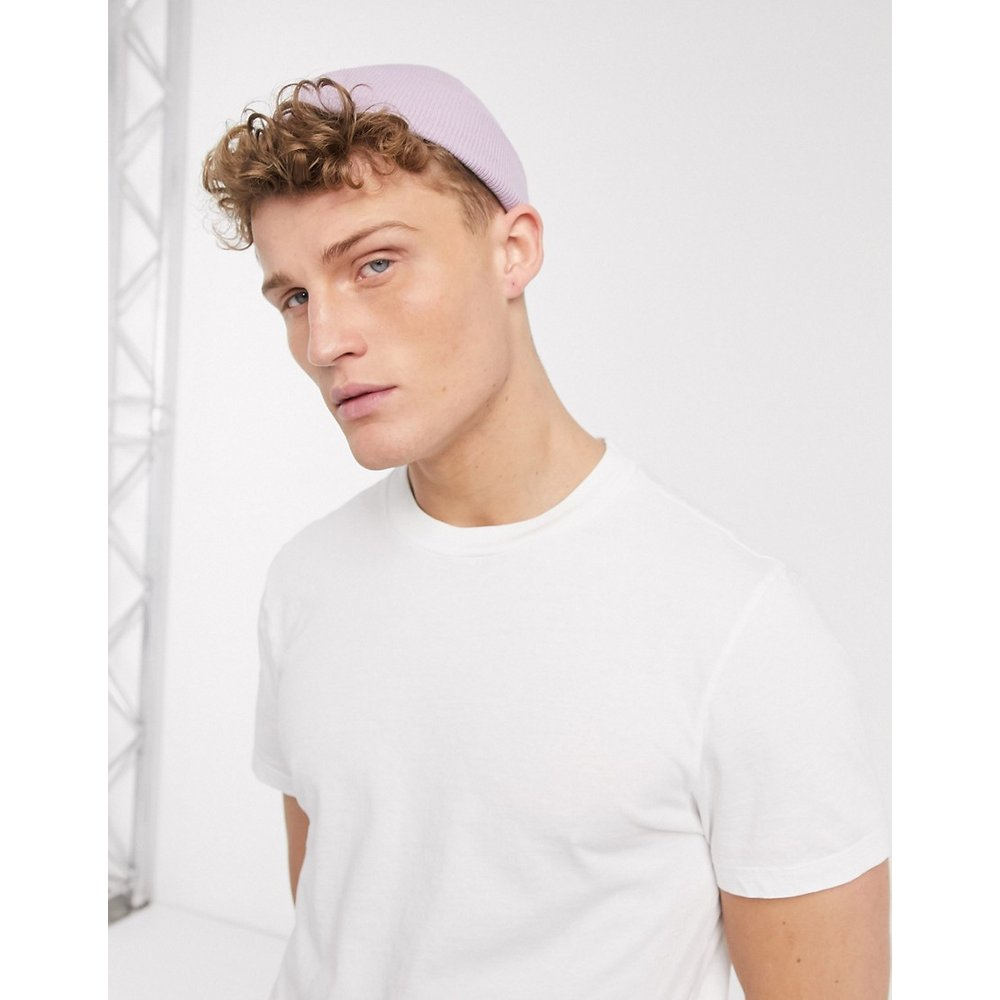 Petit bonnet style pêcheur - Lilas - ASOS DESIGN - Modalova