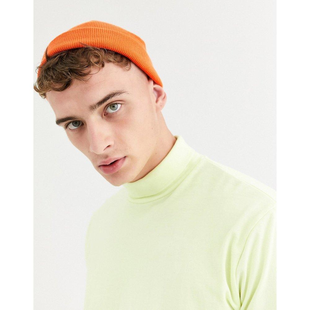 Petit bonnet style pêcheur - fluo - ASOS DESIGN - Modalova