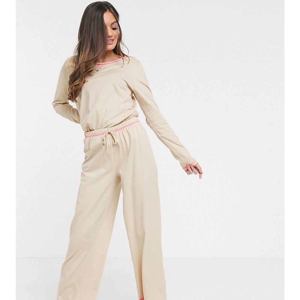 ASOS DESIGN Petite - Mix & Match - Pantalon en jersey avec point de surjet fluo - ASOS Petite - Modalova