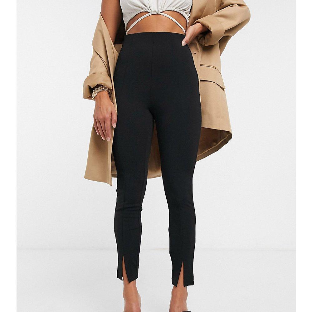 ASOS DESIGN Petite -Pantalon de tailleur slim en jersey fendu devant - ASOS Petite - Modalova