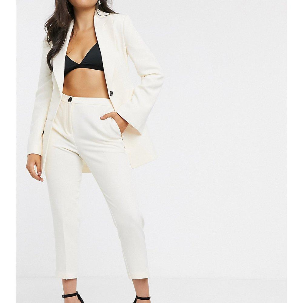 ASOS DESIGN Petite - pop - Pantalon de costume slim - Ivoire - ASOS Petite - Modalova