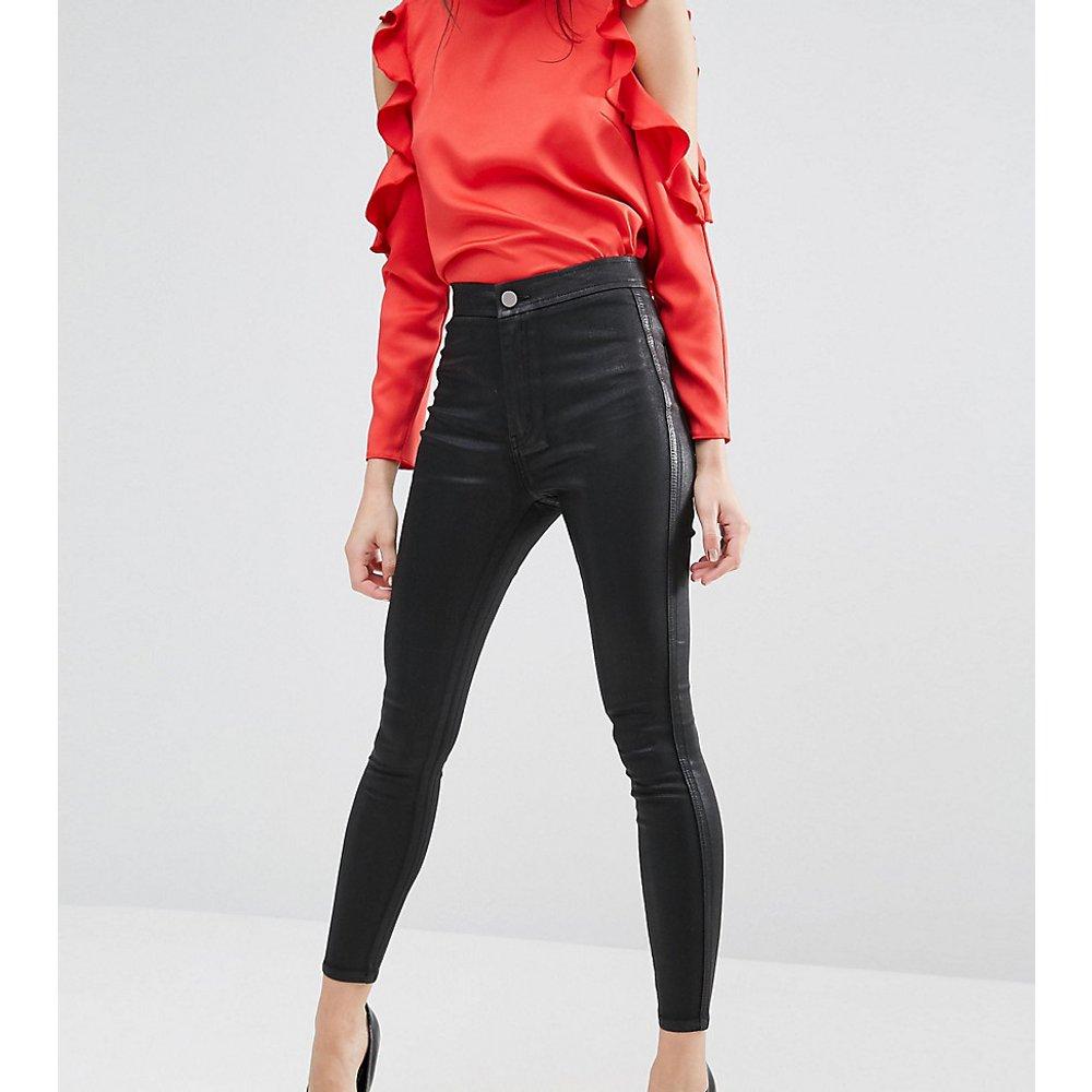 ASOS DESIGN Petite - Rivington - Jegging taille haute en jean - Enduit - ASOS Petite - Modalova