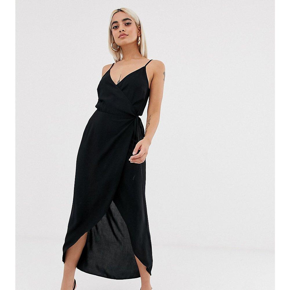 ASOS DESIGN Petite - Robe longue caraco effet drapé - ASOS Petite - Modalova