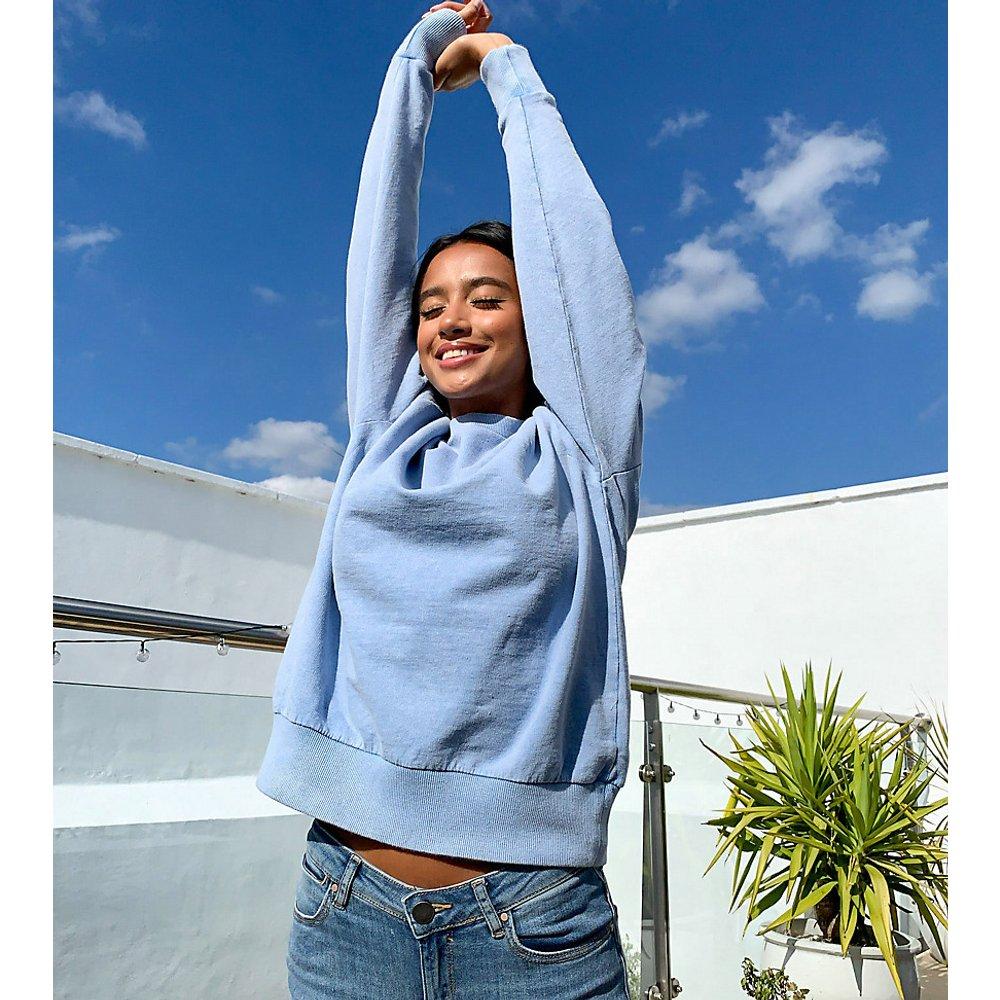 ASOS DESIGN Petite - Sweat-shirt oversize délavé - barbeau - ASOS Petite - Modalova