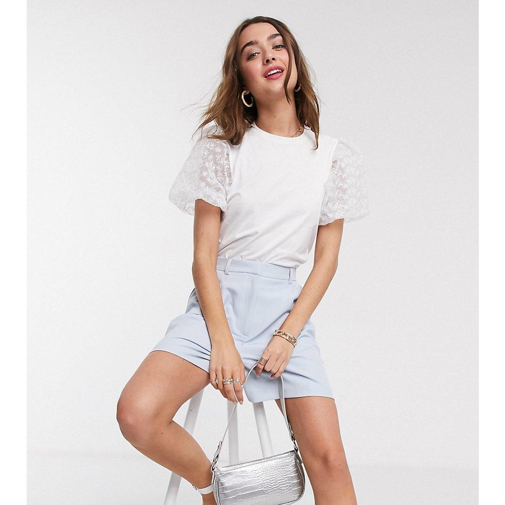 ASOS DESIGN Petite - T-shirt avec manches en organza - ASOS Petite - Modalova