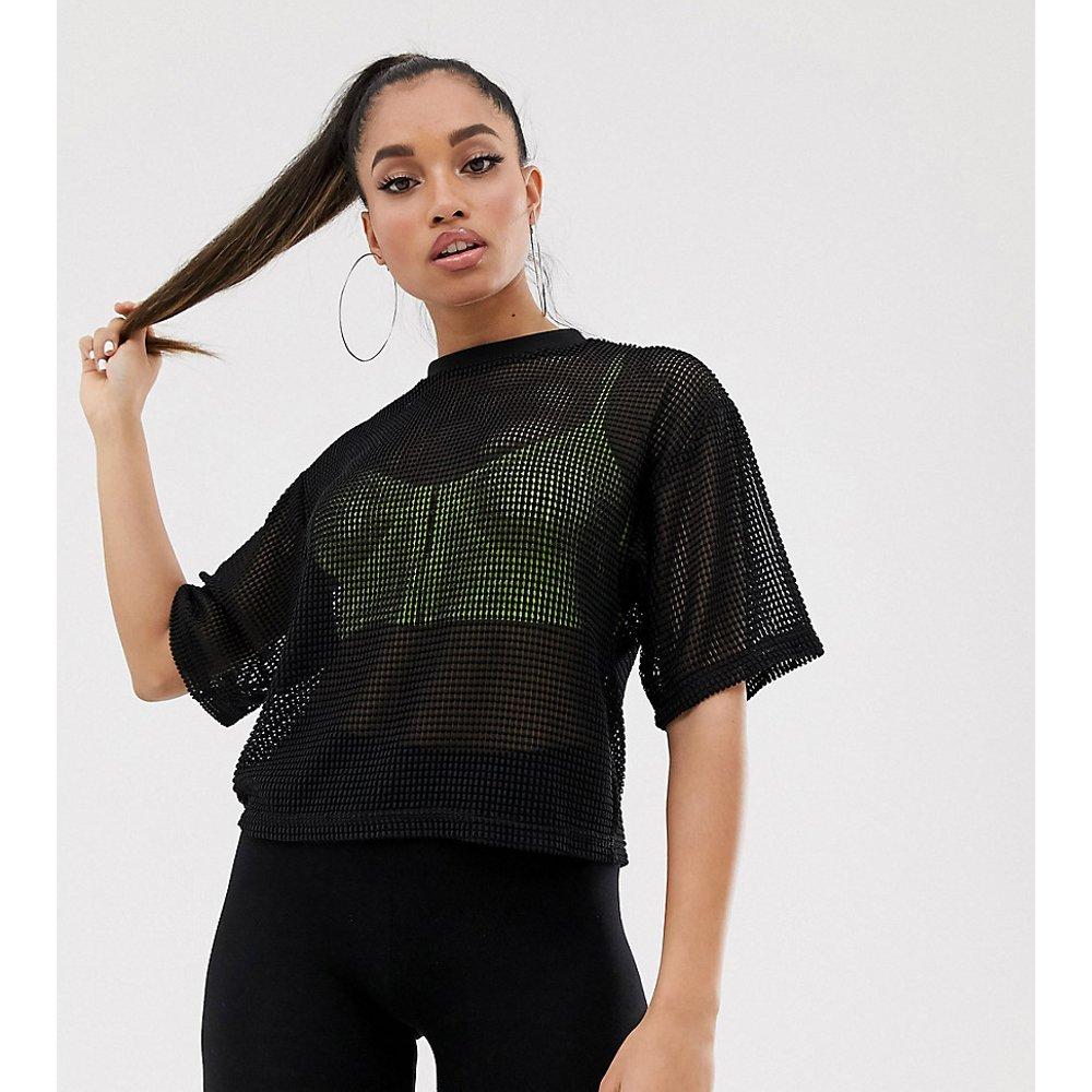 ASOS DESIGN Petite - T-shirt court en tulle oversize - ASOS Petite - Modalova