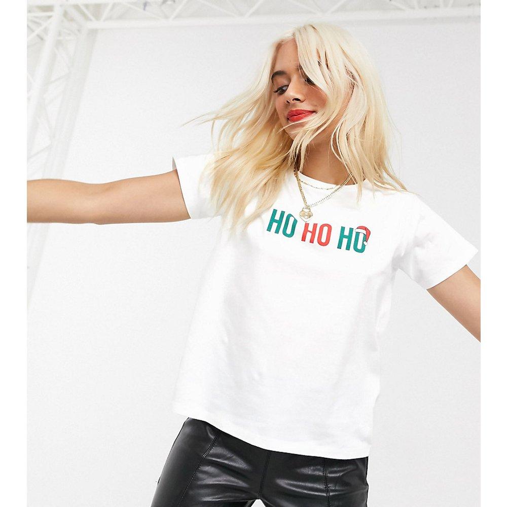 ASOS DESIGN Petite - T-shirt de Noël à imprimé HO HO HO - ASOS Petite - Modalova