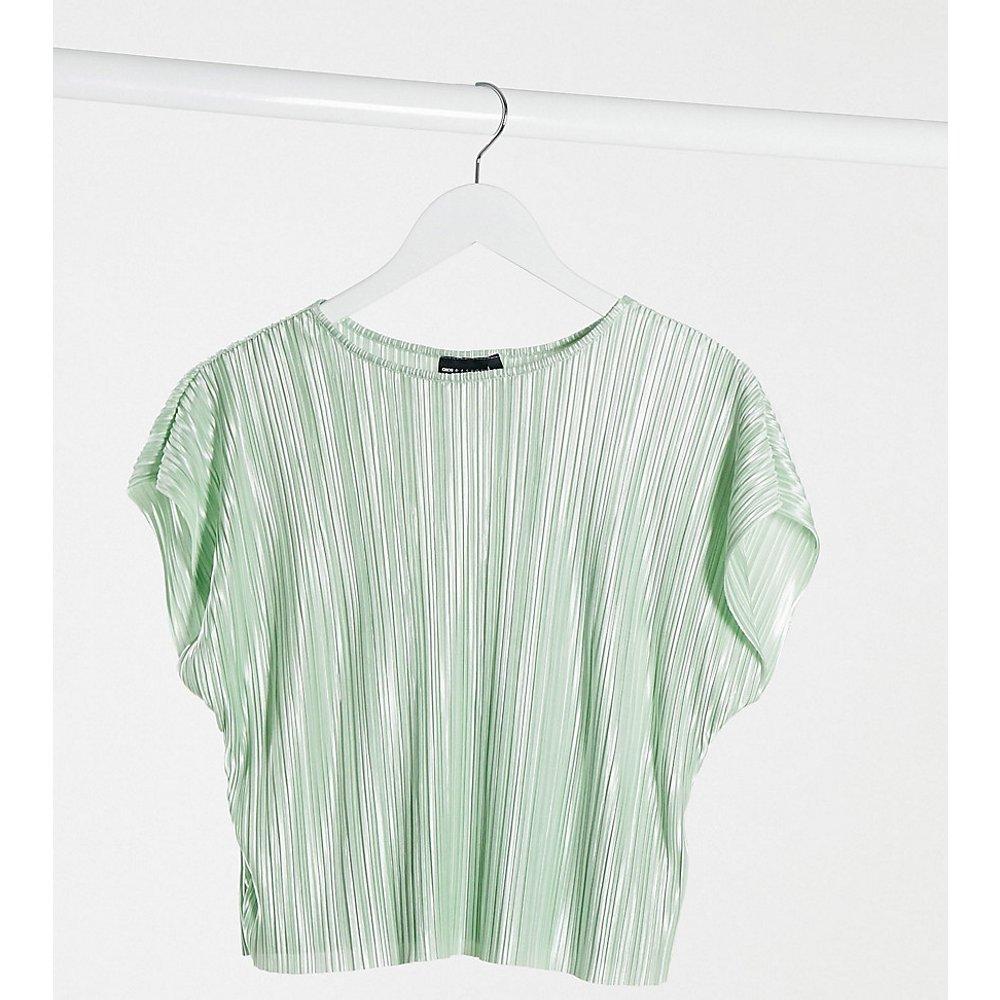 Petite - T-shirt plissé - sauge - ASOS DESIGN - Modalova