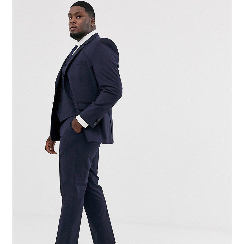 PLUS - Pantalon de costume ajusté - Bleu marine - ASOS DESIGN - Modalova