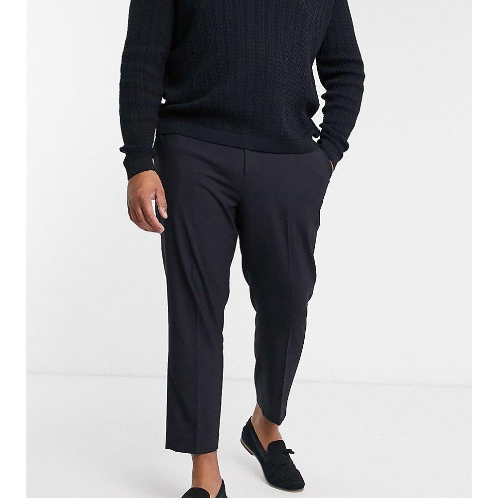 Plus - Pantalon habillé ajusté - Bleu marine - ASOS DESIGN - Modalova