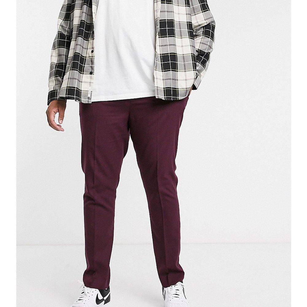 Plus - Pantalon habillé skinny - Bordeaux sombre - ASOS DESIGN - Modalova