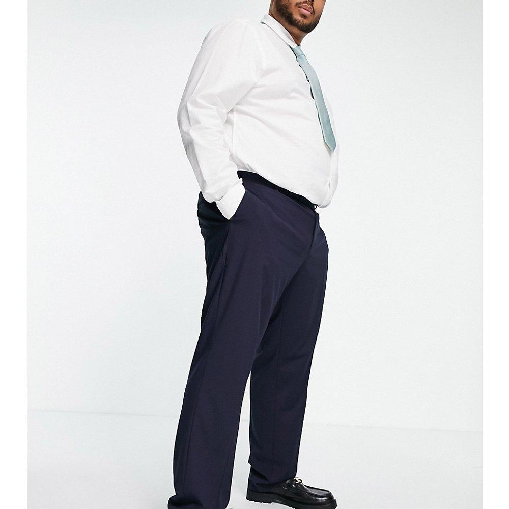 Plus - Pantalon slim habillé - Bleu marine - ASOS DESIGN - Modalova