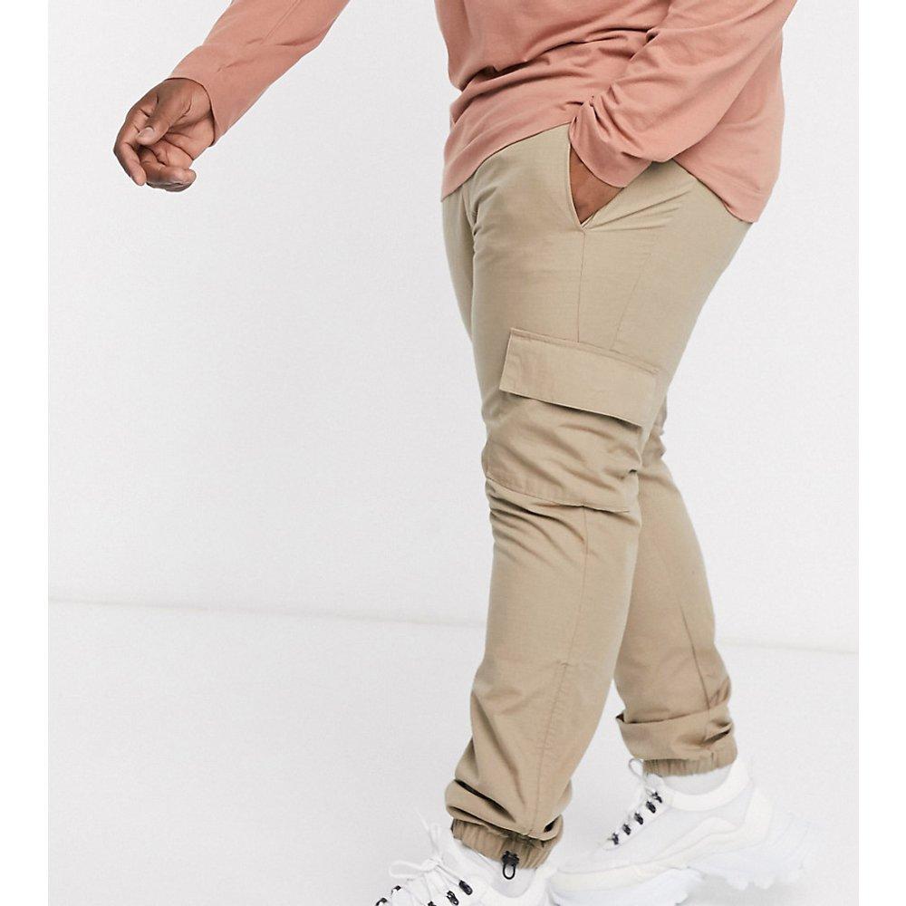 Plus - Ripstop - Pantalon cargo slim avec ourlet réglable - Taupe - ASOS DESIGN - Modalova