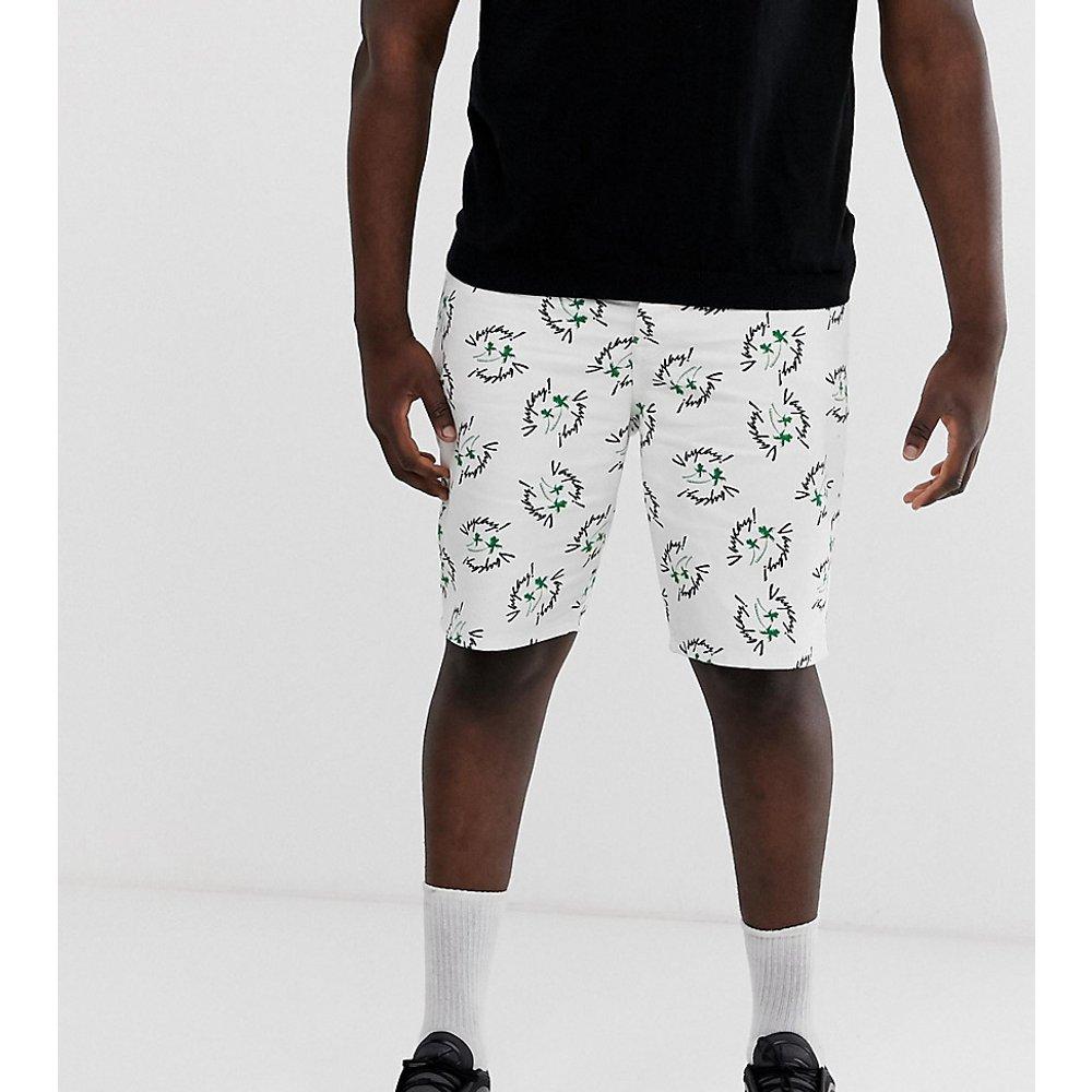 Plus - Short slim en jean imprimé vacances - ASOS DESIGN - Modalova